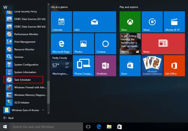 Creează sarcini programate în Windows 10 cu Task Scheduler