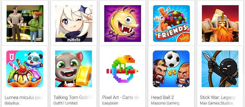 lista cu cele mai bune Jocuri gratuite pentru Android
