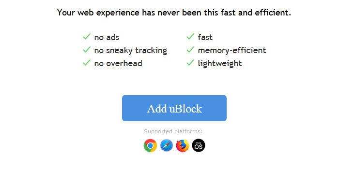 uBlock Origin, alternativă mai bună pentru Adblock Plus
