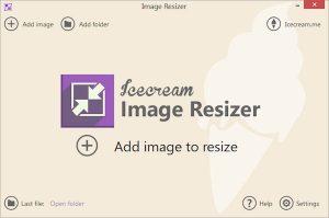 Redimensionează imagini cu Icecream Image Resizer