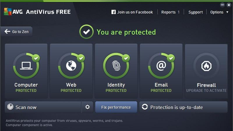 Cel mai bun antivirus gratuit pentru laptop AVG Antivirus