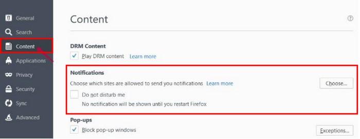 Dezactivare notificări în browser Opera sau Firefox dezactivezi notificările firefox