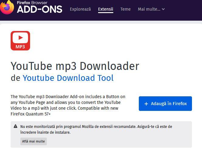 Cum sa descarici muzica de pe youtube cu Firefox