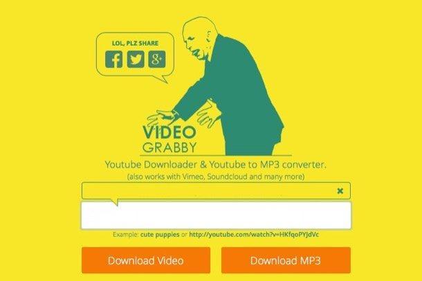 Descarcare muzica de pe Youtube cu Video Grabby