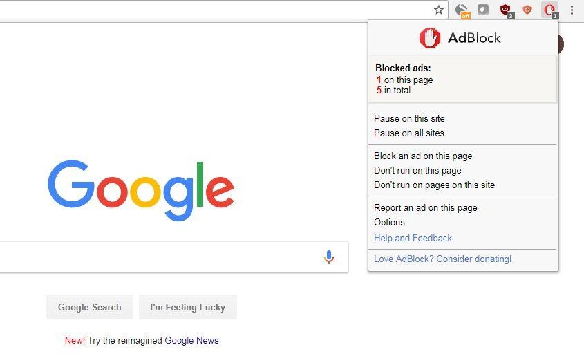 Dezactivare AdBlock sau dezinstalare
