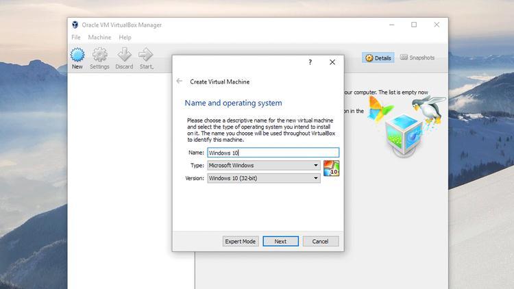 Instalează o mașină virtuală în Windows 10 cu VirtualBox