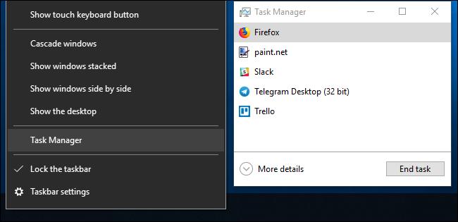 Managerul de activități Windows