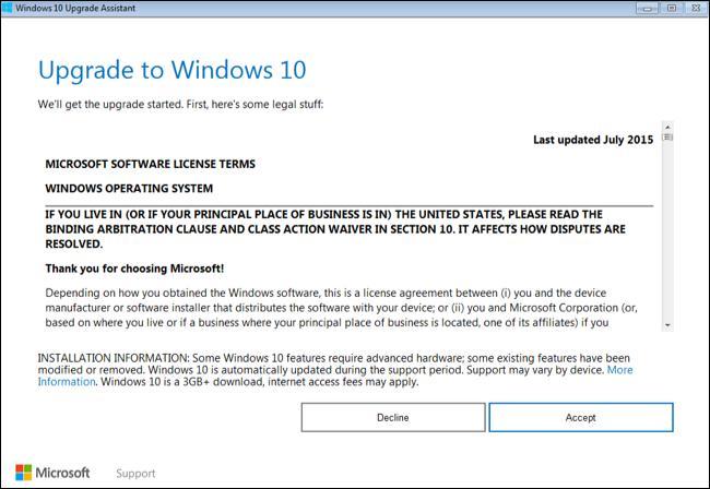 Windows 10 pe PC