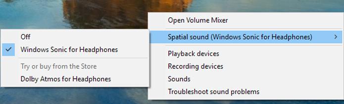 configurează Windows Sonic pentru căști
