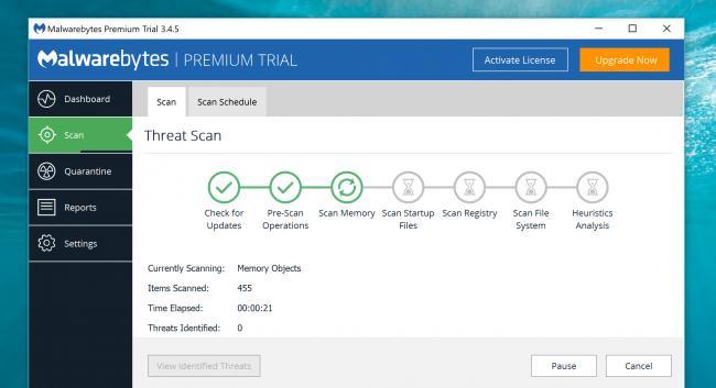 elimini virușii și malware