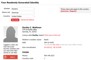 identitate falsa pe internet