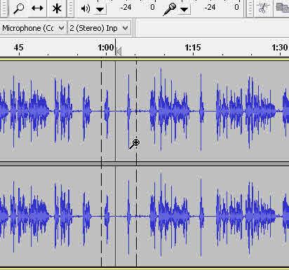 Audacity elimina zgomotul de fond (fășăitul) dintr-un fișier audio