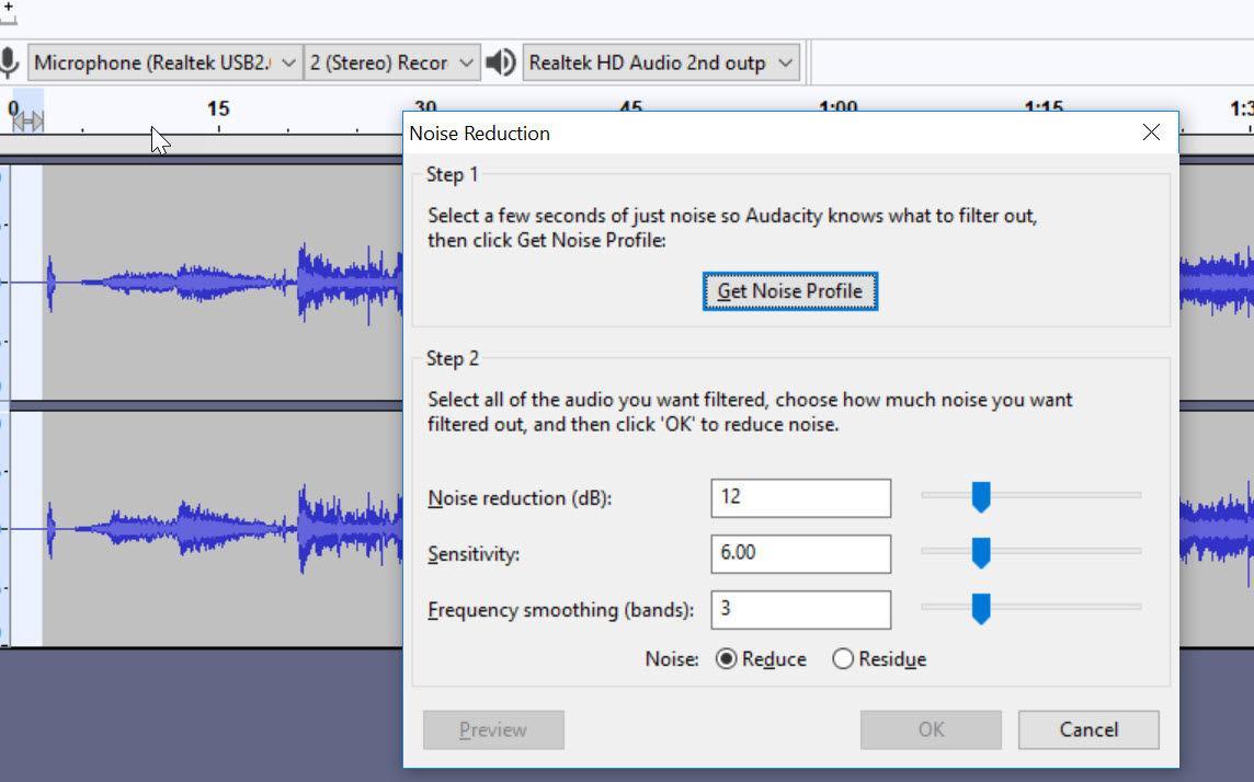 Cum se elimina zgomotul de fond (fășăitul) dintr-un fișier audio