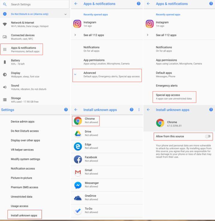 Instalează aplicații pe Android din surse necunoscute