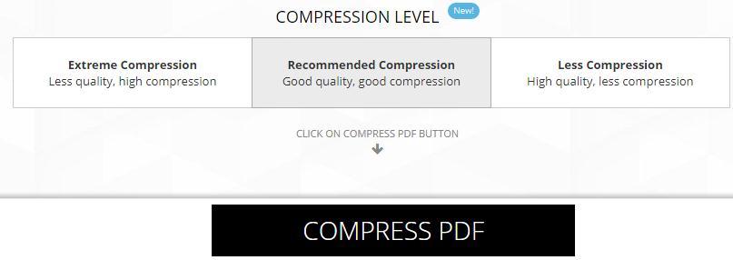 Micșorarea dimensiuni a fișierelor PDF online sau pe PC compresare