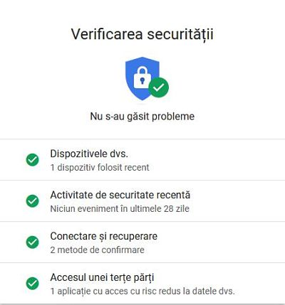 Securizare Google Chrome contul