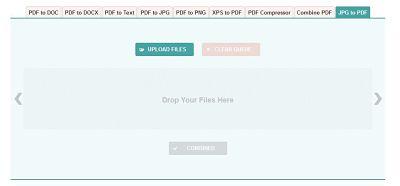 Transformare imagini JPG în PDF online