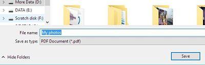 Transformare imagini JPG în PDF pe Windows sau onlinie simplu