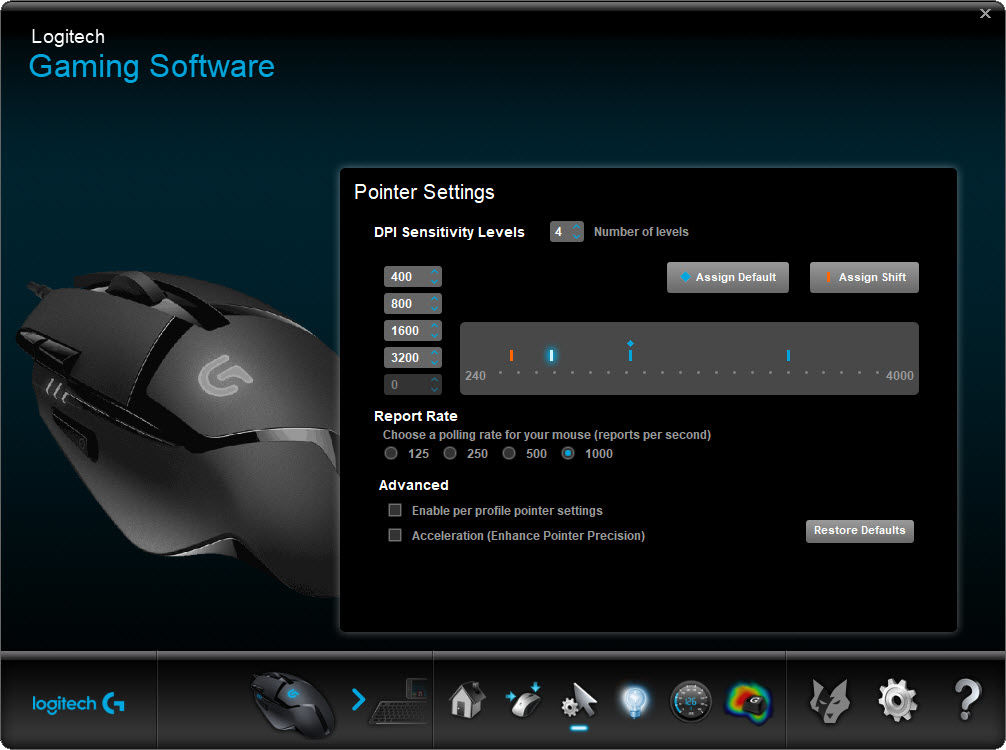 cum gasesti DPI la mouse