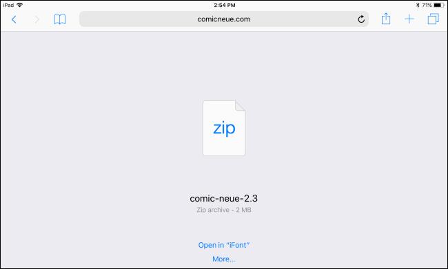 instalează fonturi pe un iPad sau iPhone