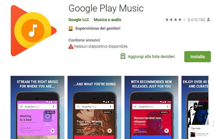 Aplicații pentru ascultat muzica offline pe Android și iPhone Google Play Music