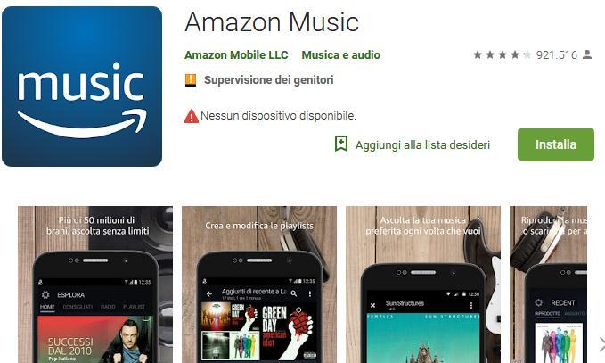Aplicații pentru ascultat muzica offline pe Android și iPhone amazon music