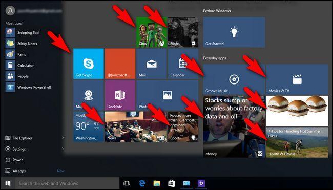 Blochează - dezactivează reclamele din Windows 10 meniul start