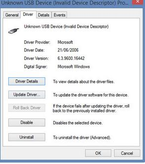 Calculatorul nu vede stick-ul USB (device not recognized) actualizare driver