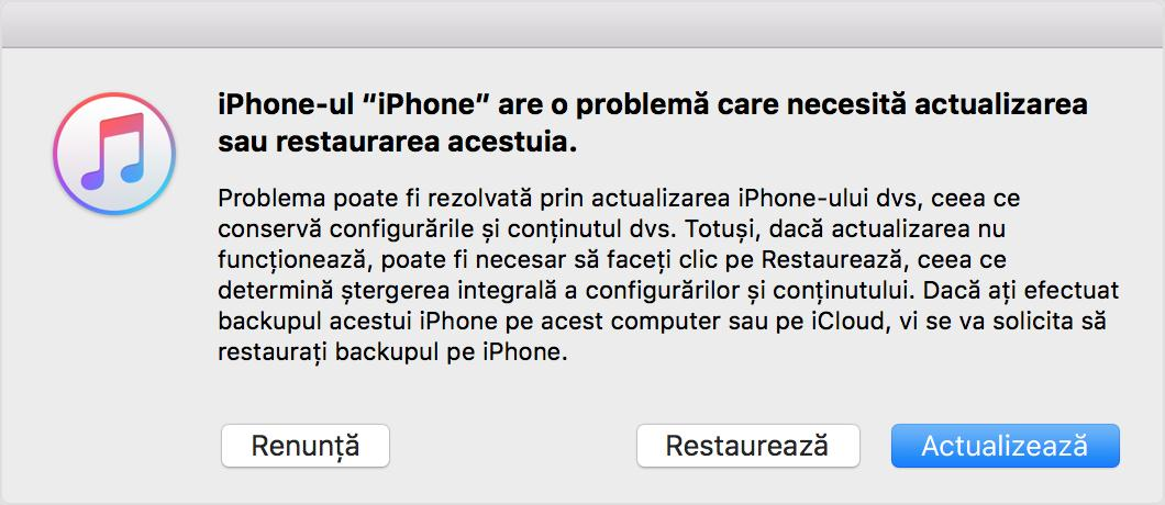 Deblochează iPhone sau iPad itunes
