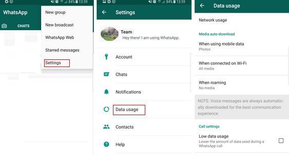 Dezactivează descărcarea automată la poze și video pe WhatsApp setari