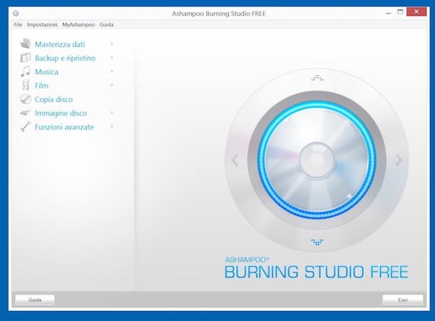 Program de copiat DVD-uri pe Windows Mac și Linux Ashampoo Burning Studio FREE
