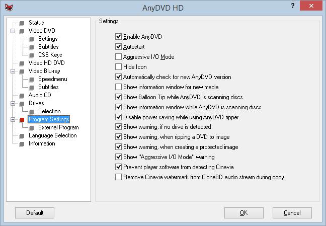 Program de copiat DVD-uri pe Windows Mac și Linux anydvd