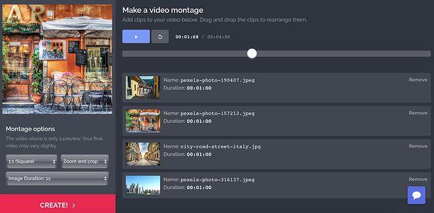 Program de făcut video cu poze pe PC și online Kapwing