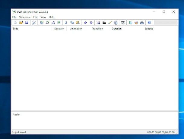Program pentru a face videoclipuri cu poze și muzică DVD Slideshow GUI