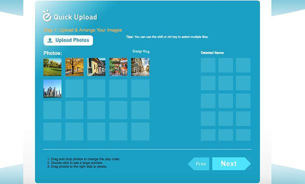 Program pentru a face videoclipuri cu poze și muzică Photopeach