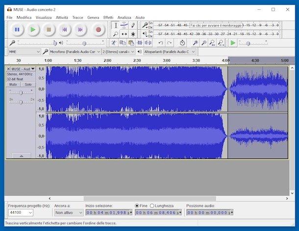 Programe de modificat muzica Audacity