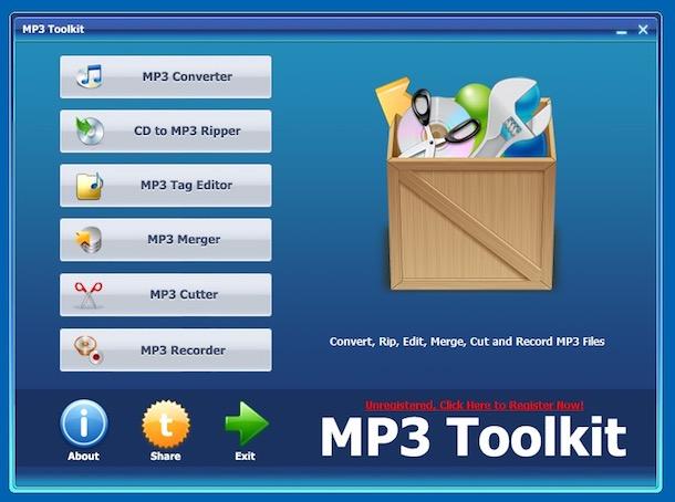 Programe de modificat muzica MP3 Toolkit