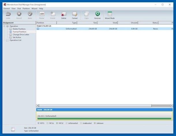 Programe gratuite de partiționare HDD Wondershare Disk Manager