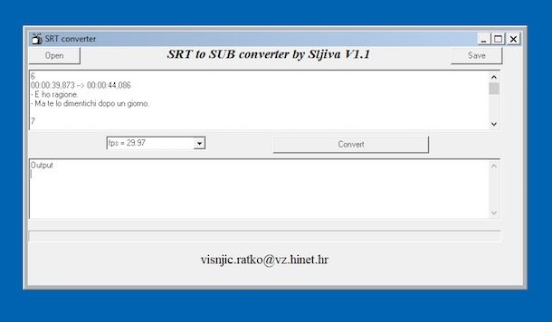 Programe pentru subtitrări filme SRT to SUB Converter