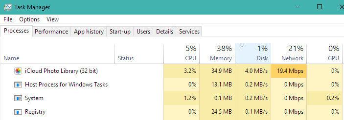 Rezolvă disk usage utilizarea discului 100% în Windows 10 task manager
