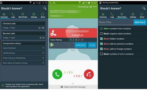 Aplicație de văzut cine te sună pe Android sau iPhone Should I Answer