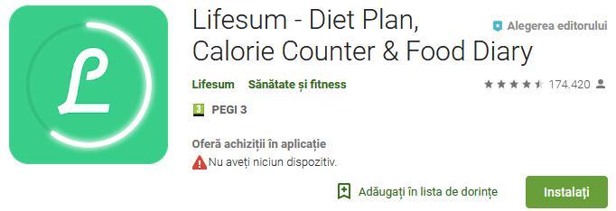 Aplicații de calculat calorii pentru Android sau iPhone life sun