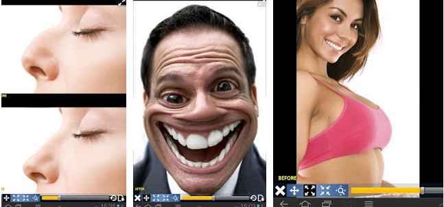 Aplicații de modificat corpul în poze pe Android sau iPhone Plastic Surgery Simulator Lite