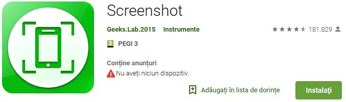 Aplicații pentru captură de ecran pentru Android sau iPhone Screenshot