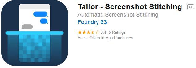 Aplicații pentru captură de ecran pentru Android sau iPhone Tailor – Screenshot Stitching
