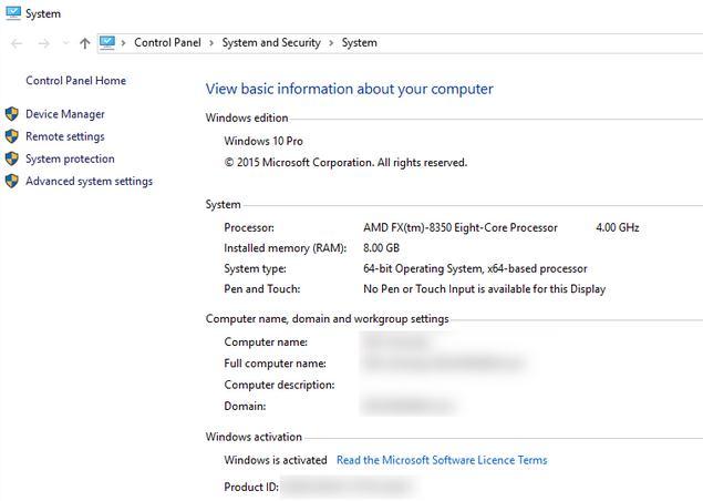 Cum găsești cheia de produs la Windows panou de control