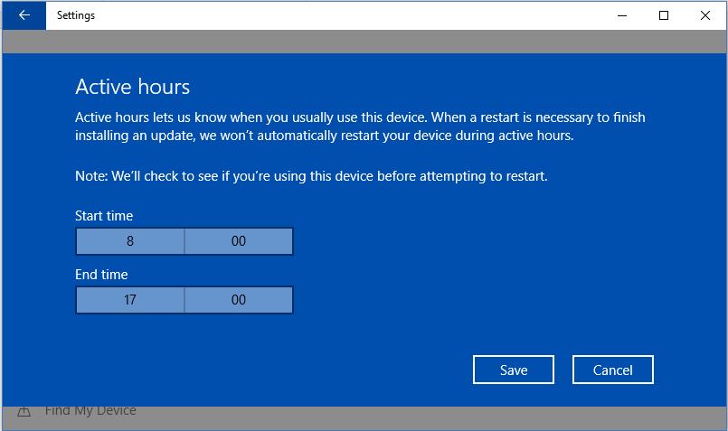 Dezactivare update (actualizări) Windows 10 repornire dupa actualizare