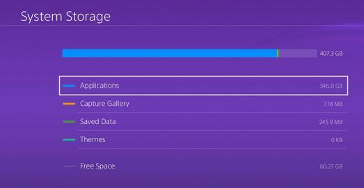Mai mult spațiu de stocare pe hard disk la PS4 sterge jocuri si fisiere