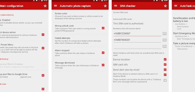 Aplicații de urmărire a telefonului Android sau iPhone Cereberus