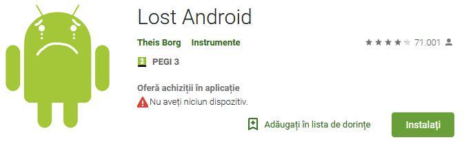 Aplicații de urmărire a telefonului Android sau iPhone Lost Android
